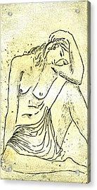 Nude II A.p. Acrylic Print by Karin Zukowski