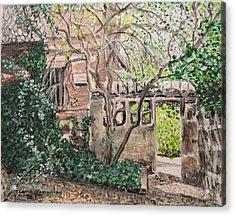 Nuremberg Castle Garden Acrylic Print by Sharon  De Vore