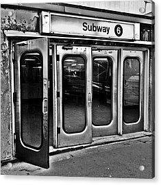 #ny #metro Acrylic Print