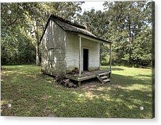Oakley Plantation Slaves Quarters Acrylic Print by Bourbon  Street