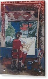 Of Me By Me Acrylic Print by Elisabeth Van der Horst