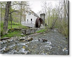 Old Dorset Grist Mill And Stream Acrylic Print by Gordon Ripley
