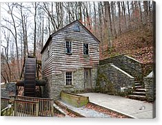 Acrylic Print featuring the photograph Old Grist Mill by Paul Mashburn