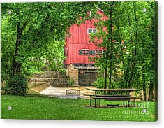 Old Indian Mill Acrylic Print by Pamela Baker