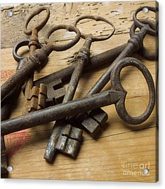 Old Keys Acrylic Print by Bernard Jaubert
