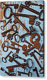 Old Skeleton Keys Acrylic Print by Garry Gay