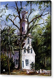 Acrylic Print featuring the painting Old St. David's Church by Gloria Turner