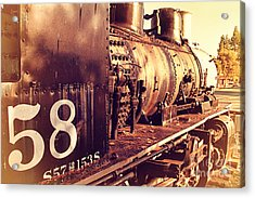 Old Steam Locomotive Engine 1258 . 7d10467 Acrylic Print by Wingsdomain Art and Photography