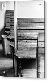 Old Train Compartment Acrylic Print by Falko Follert