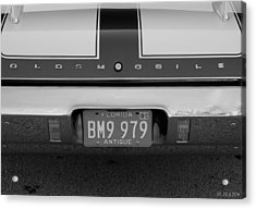 Olds Cs In Black And White Acrylic Print by Rob Hans