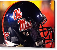 Ole Miss Football Helmet Acrylic Print by University of Mississippi