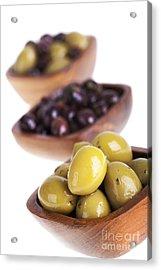 Olive Bowls Acrylic Print by Jane Rix