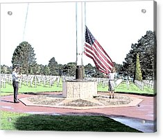 Omaha Beach Wwii American Cemetery Acrylic Print