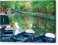 On The Canal Acrylic Print by Shirley Mitchell