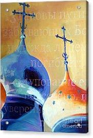 Onion Dome Acrylic Print by Martina Anagnostou