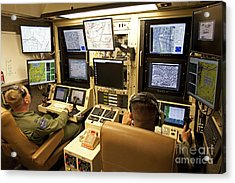Operators Control Uavs From A Ground Acrylic Print