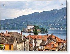 Orta - Overlooking The Island Of San Giulio Acrylic Print by Joana Kruse
