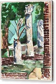 Ostia Antica Acrylic Print by Mindy Newman