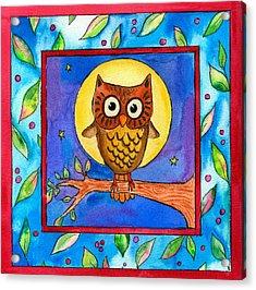 Owl Acrylic Print by Pamela  Corwin