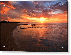 Oyster Cove Sunset Acrylic Print