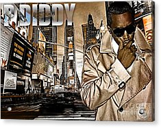 P Diddy Acrylic Print by The DigArtisT