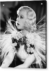 Page Miss Glory, Marion Davies, 1935 Acrylic Print by Everett