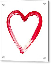 Painted Heart - Symbol Of Love Acrylic Print by Michal Boubin