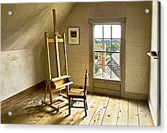 Painters Loft Acrylic Print by Gordon Ripley