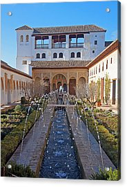 Palace Of The Generalife Acrylic Print