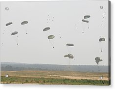 Paratrooper Supplies Coming Acrylic Print by Skip Brown