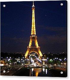 Paris By Night Acrylic Print