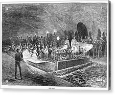 Paris: Sewers, 1869 Acrylic Print by Granger