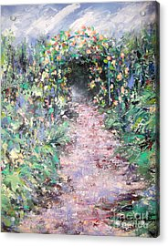 Acrylic Print featuring the painting Parsons Garden Walk by Cynthia Parsons