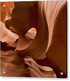 Patterns In The Smooth Sandstone Acrylic Print by Keith Levit