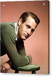 Paul Newman In The Late 1950s Acrylic Print by Everett