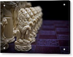 Pawns In A Row Acrylic Print by Doug Long