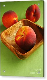 Peaches Acrylic Print by HD Connelly