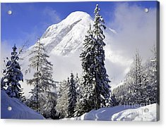 Peak In The Alps Acrylic Print