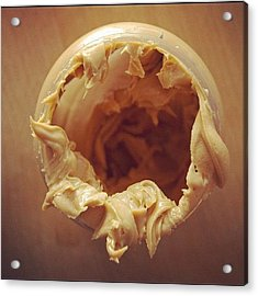 Peanut Butter - Empty Glass Acrylic Print by Matthias Hauser