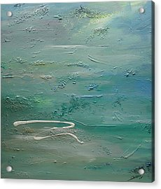 Acrylic Print featuring the painting Pearls Of Tranquility by Dolores  Deal