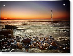 Pebbles Acrylic Print by Mark Leader