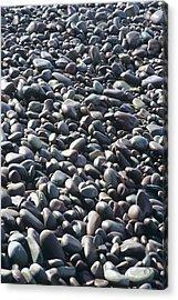 Pebbles On A Beach Acrylic Print by David Aubrey