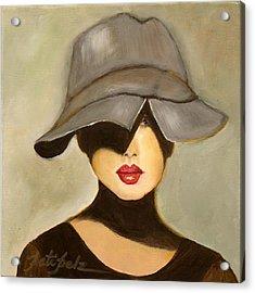 Peekaboo Hat Acrylic Print