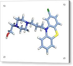 Perphenazine Antipsychotic Drug Acrylic Print