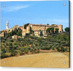 Pienza On The Hill Acrylic Print