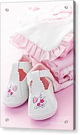 Pink Baby Clothes For Infant Girl Acrylic Print by Elena Elisseeva
