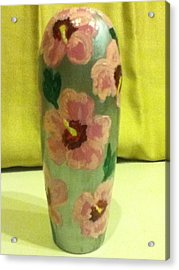 Pink Hibiscus Acrylic Print by Berta Barocio-Sullivan