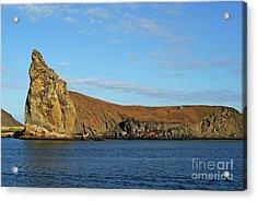 Pinnacle Rock Viewed From Sea Acrylic Print by Sami Sarkis