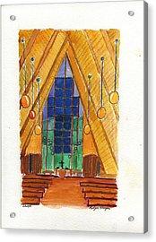 Placerville Chapel Acrylic Print