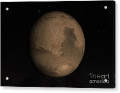 Planet Mars Acrylic Print by Stocktrek Images
